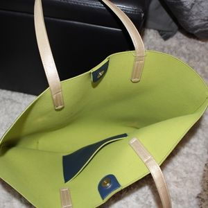 Bags - NAVY BLUE AND GREEN TOTE BAG